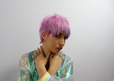 Pinke Haare - Kurzhaarfrisur