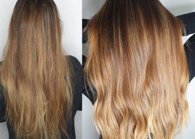 Vor und nach Friseurbesuch